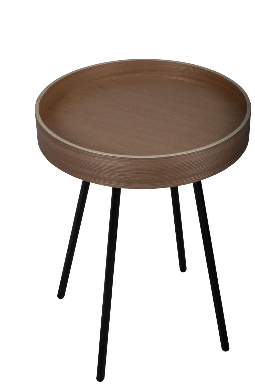Oak tray side table balada juan arquitectura i disseny for Tray side table